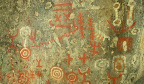 Pinturas rupestres en Alero Mellizas - Foto: villatraful.gov.ar