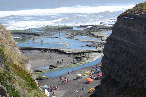 Vista de la playa de La Lobería desde la bajada - Foto: Turismo Municipalidad de Viedma