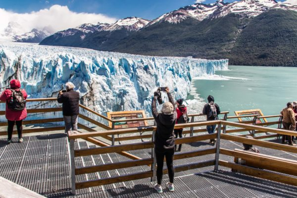 The magnificent Glaciar Perito Moreno, yet another Unesco World Heritage Site to visit in Argentina.